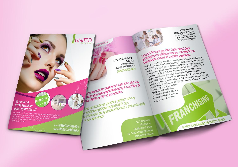 Brochure 2 ante franchising estetica - Realizzazione brochure aziendale