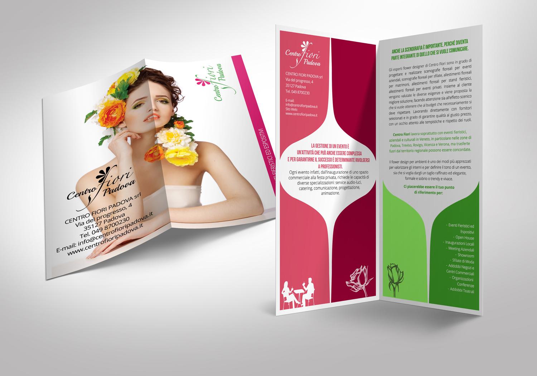 Brochure 2 ante ingrosso fiori - Realizzazione Brochure aziendale ingrosso fiori
