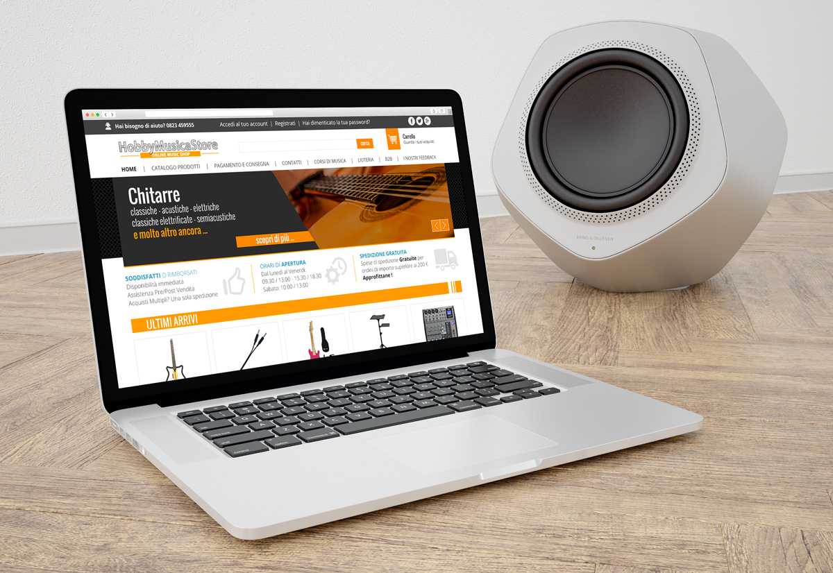 Hobby Musica Store - Restyling sito e-commerce ready pro