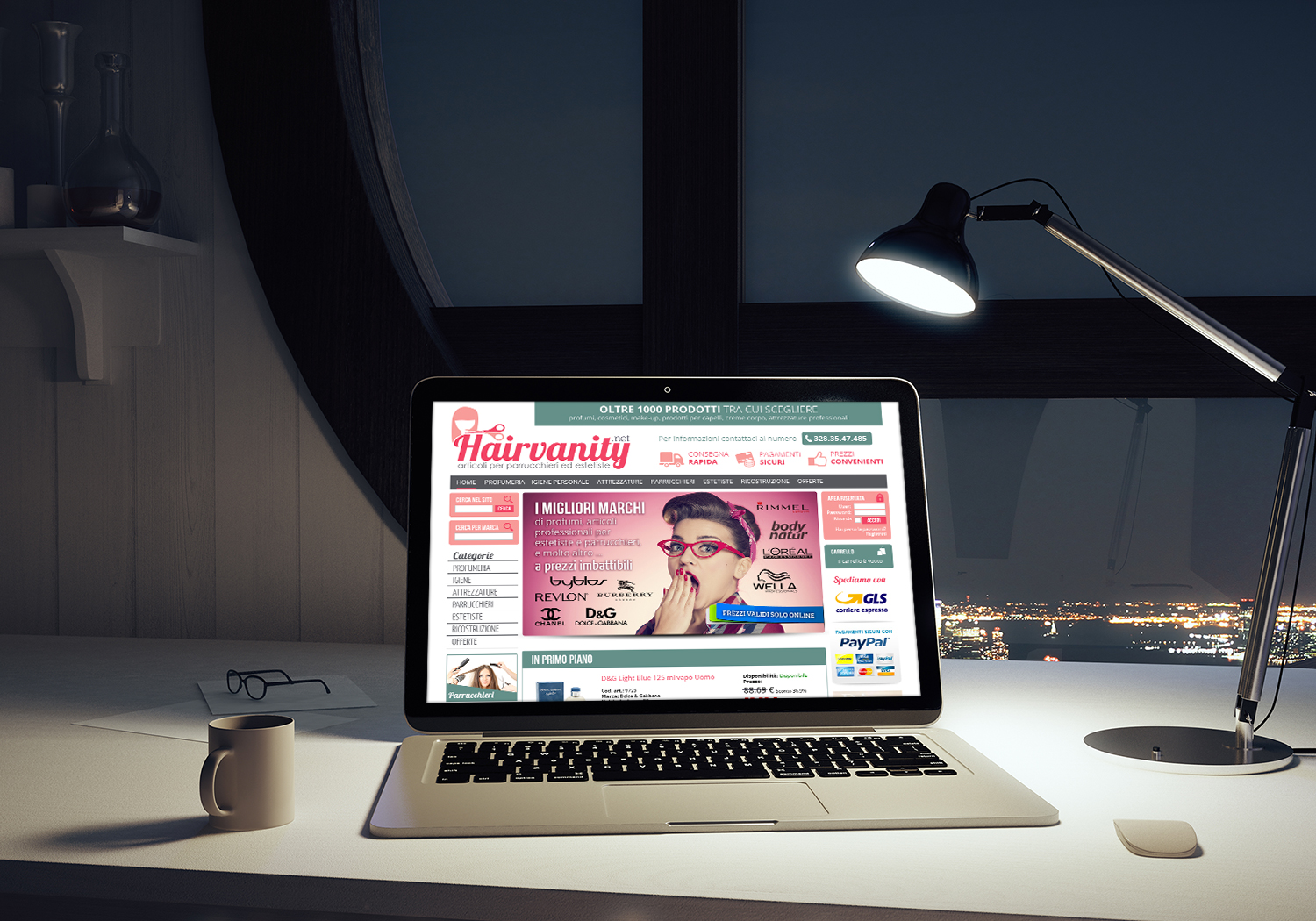 Restyling Sito Web Hairvanity