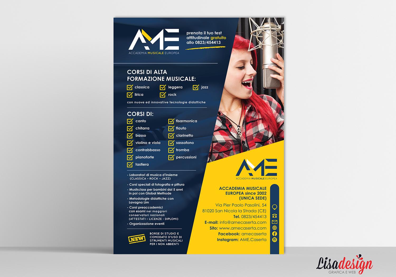 AME - Locandina 70x100 - Locandina accademia della musica